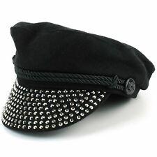 Macahel Studs Captain's Breton Cap - Black
