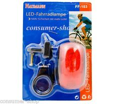 5 LED Fahrradrücklicht Rückleuchte Fahrrad Markierungslicht Warnleuchte FF-103 *