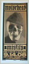 2008 Motorhead & Misfits - Silkscreen Concert Poster S/N by Martin