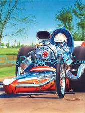 Jim Nicoll's 1969 Top Fueler.. Drag Racing Art Print
