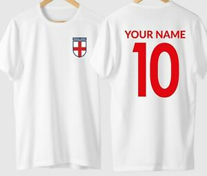 Personalised Name and Number England Football T shirt tshirt