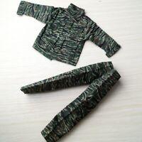 1/6 Camouflage Uniform Shirt&Pants Suit For 12'' Male HT DAM Action Figure