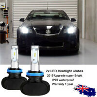 Fit Holden VE Commodore High Beam SS SSV HSV H9 LED Bulbs Upgrade Kit Cool White