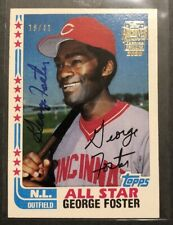 2020 Topps Archives Signature George Foster Auto Autograph 1982 #d /41 Reds