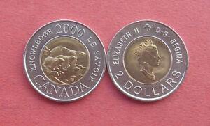 Canada 2000 Knowledge 2 Dollars Bi-metallic Coin
