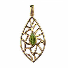 PERIDOT GEMSTONE Pendant 925 SOLID STERLING SILVER Fashion Jewelry CCIPN-2740