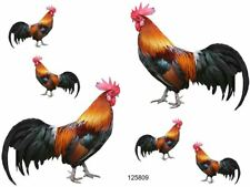 VinTaGe IMaGe XL SHaBbY RooSTeR CounTrY KiTcheN WaTerSLiDe DeCALs FuRNiTuRe SiZe