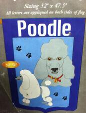 Poodle Dog flag banner Appliqued Dog Flag