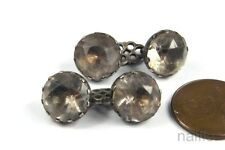 Paste Cuff / Sleeve Links c1780 Antique English Georgian Period Silver Foiled