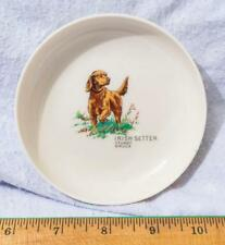"Vintage Syracuse China Stuart Bruce Irish Setter 4.5"" x 1.25"" Bowl mv"