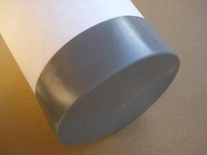 bouchon pour tube rond 80 mm gris plastique Embout bouchons dobturation 1 pcs