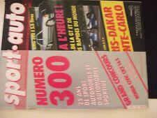**j Revue Sport Auto n°300 9e Paris Dakar / Poster Carte du 9e Paris Dakar