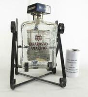 Vintage Disaronno Amaretto Wrought Iron Tilt Stand With Bottle