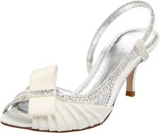 PVP £ 162 Talla 3 4 4.5 5 5.5 Bourne Jasmine Marfil Swarovski Diamante Zapatos De Novia