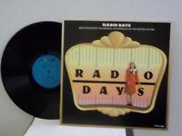 """Radio Days"",Novus,US,LP,stereo,big band/swing jazz movie soundtrack score,Mint"