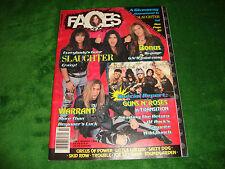 FACES ROCKS magazine 7/1990 slaughter/skid row/guns n roses/warrant/salty dog