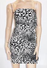 TEMT Designer Beige Animal Print Strapless Bodycon Dress Size S BNWT #SW70