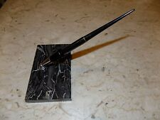 Vtg Parker Vacumatic Fountain Pen Desk Set Black Marble/Onyx Base Untested VGC
