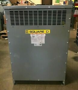 SQUARE D EX112T3H 3 PHASE 112.5 KVA DRY TYPE TRANSFORMER 480D X 208/120V -TESTED