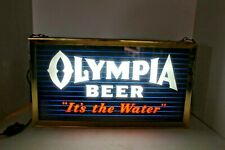 """Vtg Original1950's Olympia Beer """"It's The Water"""" Lighted Beer Sign, Works Great"""