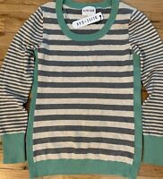 CUTE Olive & Oak Stitch Fix Women's Size Medium Long Sleeve Striped Top Sweater