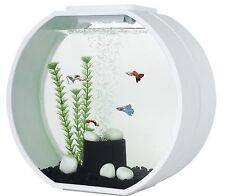 FISH R FUN DECO-O TANK  MINI  10LTR ROUND TANK WHITE MODERN DESIGN