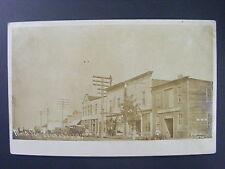 Vincent Iowa IA Main Street Stores Lineman Real Photo Postcard RPPC 1907