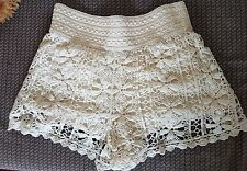 Cream crochet shorts from Topshop size 6