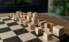 """1923 Bauhaus Chess pieces set made of Ebonised Boxwood with King: 2"""" vintage che"""