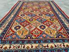 Authentic Hand Knotted Vintage Mashoud Wool Area Rug 5 x 3 Ft (12482 KBN)