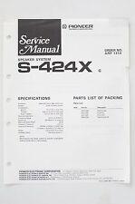 PIONEER S-424X Original Speaker System Service-Manual/Anleitung/Schaltplan! o68A