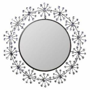 "25.5"" Decorative Wall Mirror Crystal - Wall Decor - Wall Mirror - Stone Mirror"