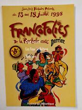 FRANCOFOLIES 1998 PERRIER illustration ZAU carte postale