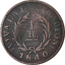 [#874746] Coin, Argentina, BUENOS AIRES, Real, 1840, F(12-15), Copper, KM:7