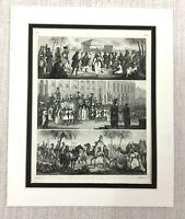 1849 Antico Incisione Stampa Marocchino Landscape Scenery Matrimonio Cerimonia