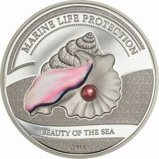 2014 Palau Large Proof Silver Color $5 Pearl