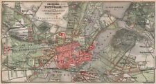 POTSDAM town city stadtplan & environs/umgebung. Nowawes. Brandenburg 1886 map