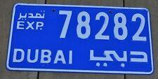 license plate Arab Dubai United Arab Emirates