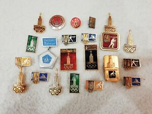 Badges USSR Olympic Games 1980 22 pieces