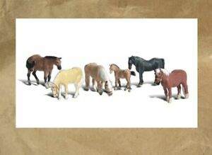 NEW ~ Woodland Scenics FARM HORSES Figures ~ Mayhayred Trains N Scale Lot