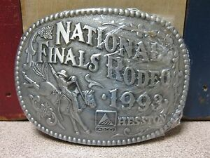 Vintage 1993 Hesston National Finals Rodeo Belt Buckle NOS FREE SHIPPING!