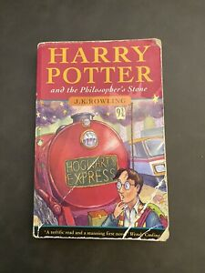 Harry Potter and the Philosopher's Stone 1997 1st Edition 1st Print Bloomsbury