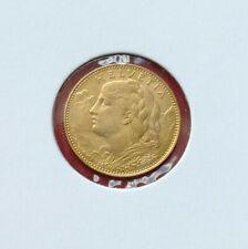 """Schweiz: 10 Franken """"Gold-Vreneli"""" 1922 -B- (unc./stgl)!!"""