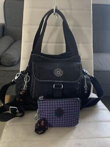 💜🙉FAIRFAX KIPLING BAG WITH MONKEY🐒 👛AND NEW PURSE KIPLING HANDBAG BUNDLE