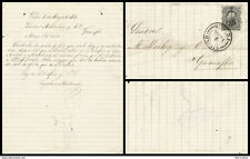 J) 1875 MEXICO, HIDALGO'S HEAD 10 CENTS BLACK, COMPLETE LETTER, CIRCULATED COVER