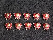 10 x Russian Red Enamel Badge Vladimir Lenin USSR Soviet Russian