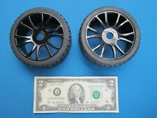 2 RC CAR WHEELS & TIRES SET 1/8 ON-ROAD RALLY BUGGY GT 17MM HEX RIM TYRE XCEED