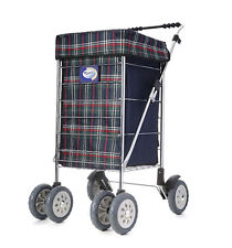 Marketeer 6 Wheel Deluxe Swivel Stroller Shopping Trolley Shopper bag on wheels
