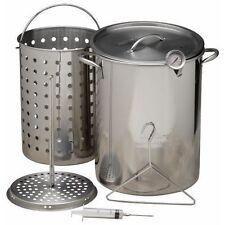 Deep Turkey Fryer 30 QT Stainless Steel Pot Kit Basket Propane Stockpot NEW