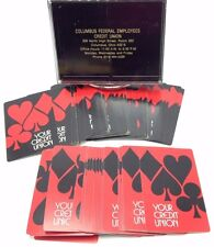 Red Black Playing Card set 2 decks box suit Credit Union Columbus Ohio USA